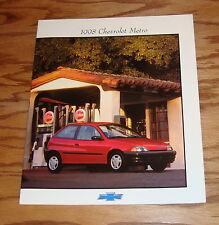 Original 1998 Chevrolet Metro Sales Brochure 98 Chevy