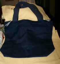 NEW Port and Company Cotton Canvas TOTE BAG REVERSIBLE NAVY
