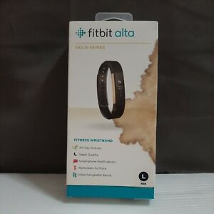 Fitbit Alta Gold Series Activity Tracker (Large) - Black/Gold BAD BOX