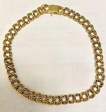 "❤️James Avery Gold Light Double Curb Charm Bracelet 7"" Retired  Version 7.3 g❤️"