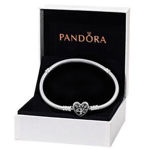 PANDORA Bracelets Coeur Breloques Argent Sterling Pour Cadeau de fête des mères