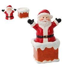 Santa Clause Chimney Ceramic Salt and Pepper Shakers.Chrismas Holiday Home Decor