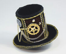 Steampunk Gears Mini Top Hat