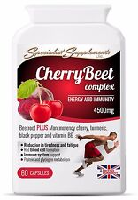 Cherry Beet and Beetroot Antioxidant with Vitamin B6 Supplement for Vegan