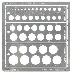 Tamiya 74150 Modeling Template (Circle 1-12.5mm)