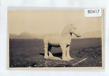 B0417cgt China Horse Sacred Way c1930's vintage postcard
