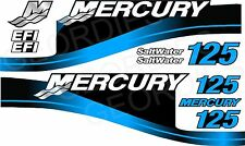 BLUE MERCURY 125 OUTBOARD FOUR STROKE MOTOR STICKERS DECAL KIT ENGINE