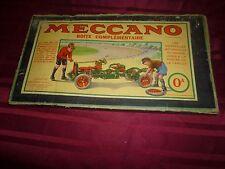 Beau et ancien coffret boite MECCANO N°0 complémentaire