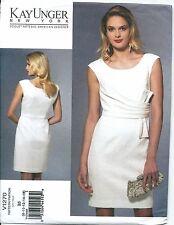 Vogue Designer Sewing Pattern, Kay Unger, V1270, Dress, Size B5 (8-16), New, OOP
