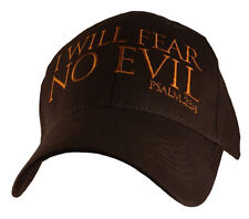 I Will Fear No Evil For Thou Art With Me Psalm 23:4 Christian Hat Baseball Cap
