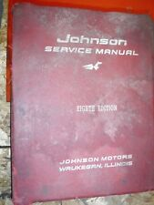 1922-1960 JOHNSON OUTBOARD MOTOR ORIGINAL FACTORY SERVICE MANUAL 8TH EDITION
