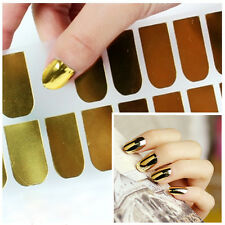 Beauty DIY 16 Pcs Nail Art Sticker Patch Foils Armour Wraps Deco Metal Color HOT