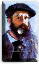 Claude Monet Self Portrait Painting Light Dimmer Cable Wall Plate Room Art Decor