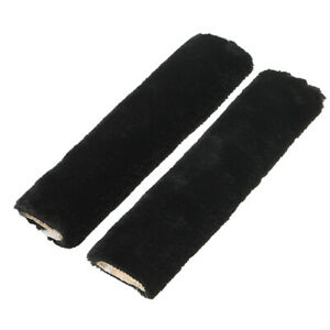 Velour Car Auto Seat Belt Cover Shoulder Pad Harness Pads Strap Wool Fur