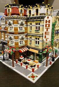 LEGO CUSTOM MODULAR LARGE CORNER BUILDING HOTEL CAFE fits with 10185 MOC 548