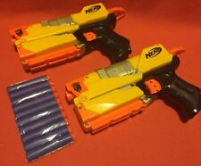 Nerf N-Strike Elite EX-3 Pistol With Removable Barrel Pair With 10 New Bullets