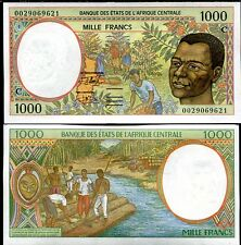 CENTRAL AFRICAN STATE CONGO 1000 1,000 FRANCS 2000 P 102 C UNC