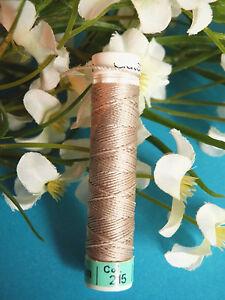 "480B / Superb Coil Drawstring Silk Gutermann "" Light Beige "" N° 215"