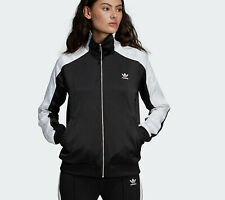 Women's adidas Originals Firebird Track Jacket Retro UK 10 Black White WT