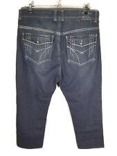 Phat Farm Mens 41x30 (TAG 42x32) Blue Jeans Straight Leg Flap Pockets