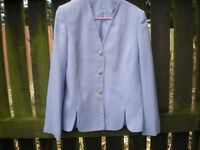 PALE BLUE SUMMER JACKET SIZE 10 by DEBENHAMS CLASSICS