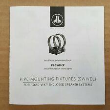 JL Audio PS-SWMCP-B-2.875 VEX Enclosed Pod Speaker System Swivel Mount Clamps