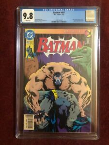 BATMAN #497 CGC 9.8 - Breaking of the Bat!-NEWSSTAND - Knightfall - Kelly Jones