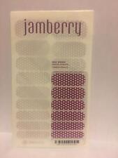 New JAMBERRY Nail Wraps PLUM & WHITE POLKA Purple Dots