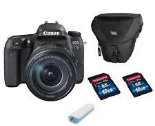 Canon EOS 77D + 18-135mm IS USM Zubehörpaket inkl 32 GB + Tasche + Powerbank