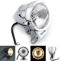 """Chrome Bullet Headlight Lamp 4 3/4"""" Motorcycle For HD Chopper Bobber Custom AUS"""