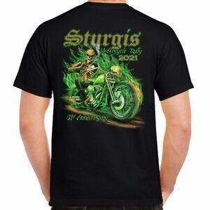 Sturgis 2021 Motorcycle Rally Bad To The Bone Skull Biker Event T-Shirt