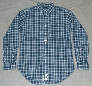 $69.99 NEW Polo Ralph Lauren Button-Up Dress Shirt SMALL S classic fit plaid NWT