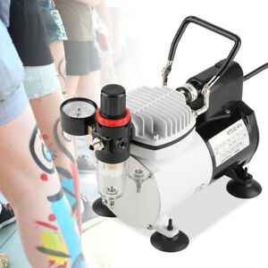 Silent Airbrush Compressor Paint Double Action Spray Gun Air Brush Nail Tattoo