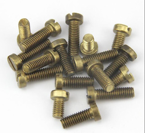2BA, 3BA, 4BA, 6BA, 0BA Cheese Head Slot Slotted Machine Screws Brass