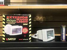 Satco 76-510 150W Exterior Halogen Flood Light White W/Bulb New In Box