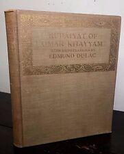 EDMUND DULAC ~ RUBAIYAT OF OMAR KHAYYAM, Early Edition Ca 1910, Tipped-in Plates