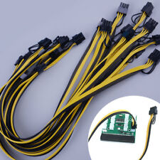 10pcs 50cm 6 pin to Dual 8 Pin (6+2Pin) Power Splitter Cable 18AWG Mining