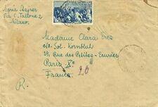 G187-AVVENTO DELLA REPUBBLICA (VENEZIA), L.15 SU BUSTA, MILANO PER PARIGI, 1947