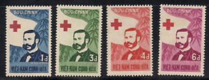 Vietnam-S.  1960  Sc #136-39  Red Cross  MNH  (1-031)