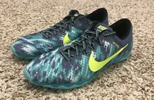Nike Zoom Rival XC Track Shoes Running Spike Women's Sz 9.5 Blue Green 749351