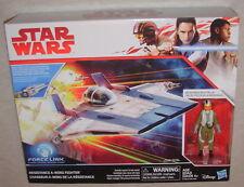 Star Wars 2017 THE LAST JEDI Resistance A-Wing Fighter & Pilot TALLIE Figure MIB