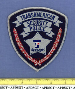 TRANSAMERICAN REFINERY SECURITY POLICE CEDAR RAPIDS IOWA Company Patch OIL GAS