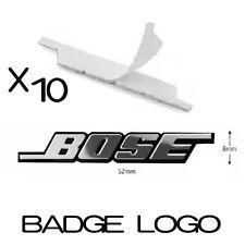 10x NEW BOSE Speaker Sticker Badge Emblem for Car Audio Mercedes, BMW, VW, AUDI