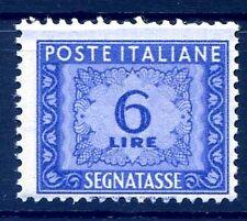 SEGNATASSE 6 LIRE - SOLO LETTERE IN FILIGRANA