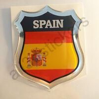 Pegatina España 3D Escudo Emblema Vinilo Adhesivo Resina Relieve Coche Moto