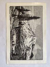 Vintage Lloyd Harting Mt. Rainier Washington Sketch Painting, Very Nice!