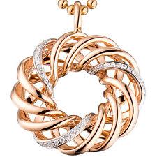 NEU 25 mm Luxus Diamanten Anhänger 585er echt Gold Rosegold 14 Karat 0,14 ct.