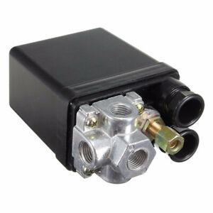 220V-240V 16A Air Compressor Pressure Switch 4 Port Control Cut Off Valve 175PSI