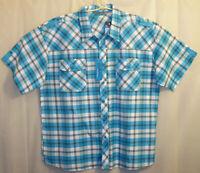 Evolution In Design Button Front Shirt Men's 4XL Multi-Color Plaid Unworn w/Tag