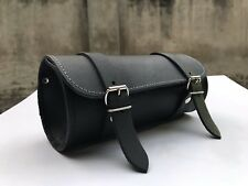MOTORCYCLE MOTORBIKE REAL LEATHER TOOL ROLL SADDLE BAG ZN-TRB011
